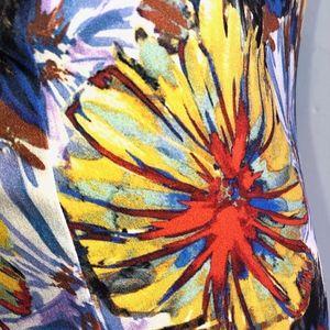 SUNO Silk Floral Dress